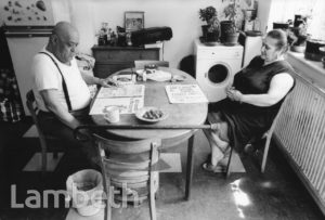 CYPRIOT COUPLE, COUNCIL FLAT, BRIXTON