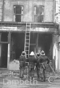FIRE BOMBING, UNITY CENTRE, 74 RAILTON ROAD, BRIXTON