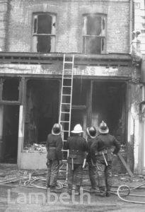 FIRE BOMBING, UNITY CENTRE, 74 RAILTON ROAD, BRIXTON