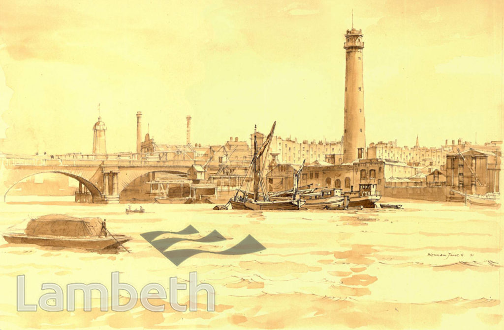 SHOT TOWER AND OLD WATERLOO BRIDGE