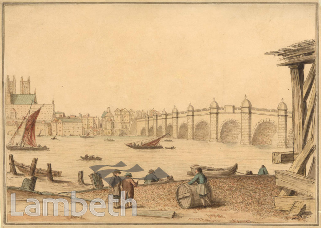 WESTMINSTER BRIDGE FROM STANGATE, LAMBETH