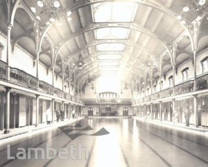 FIRST CLASS POOL, LAMBETH BATHS, LAMBETH ROAD