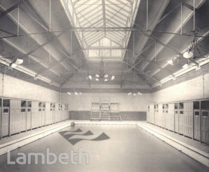 WOMEN'S SWIMMING POOL, LAMBETH BATHS, LAMBETH ROAD