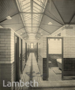 MEN'S SLIPPER BATHS, LAMBETH BATHS, LAMBETH ROAD