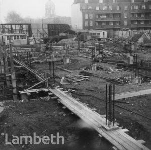LAMBETH BATHS CONSTRUCTION, LAMBETH WALK, LAMBETH