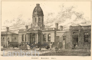 SURREY MASONIC HALL, CAMBERWELL