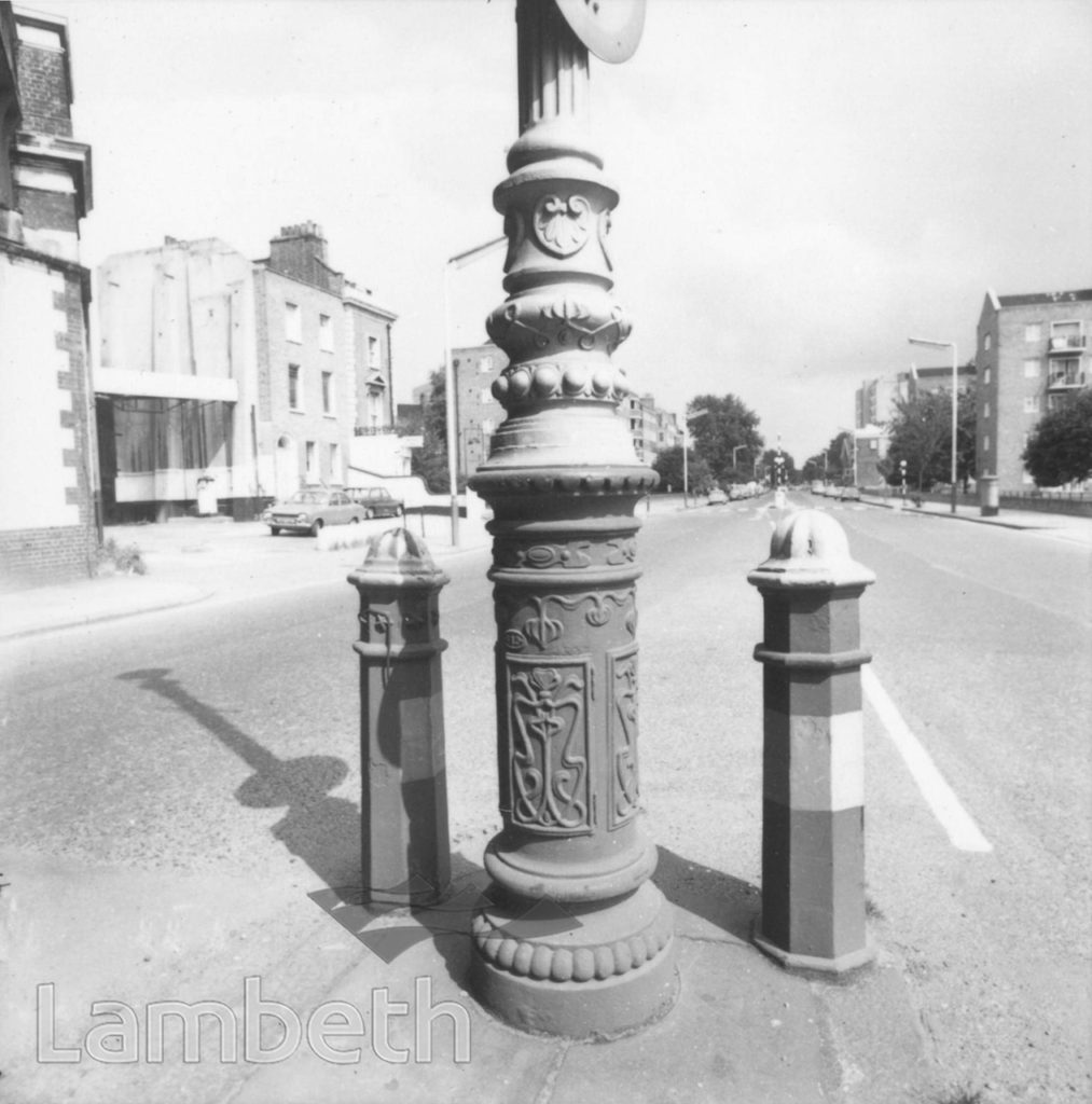 LAMPPOST & BOLLARDS, LAMBETH ROAD, LAMBETH