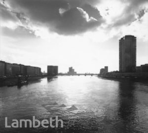 VAUXHALL SKYLINE FROM LAMBETH BRIDGE