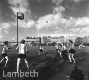 WOMEN'S NETBALL, CLAPHAM COMMON