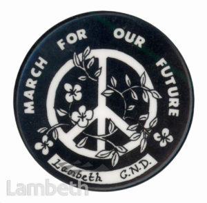LAMBETH CAMPAIGN FOR NUCLEAR DISARMAMENT BADGE