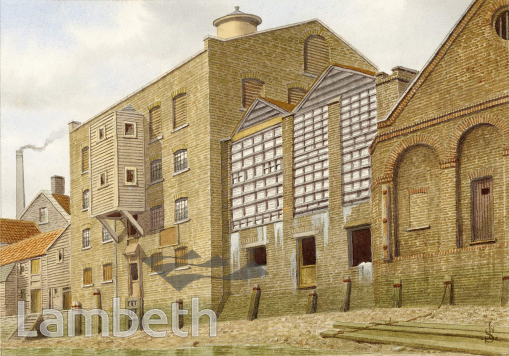 CANN'S WHITING WORKS, THAMES FORESHORE, LAMBETH