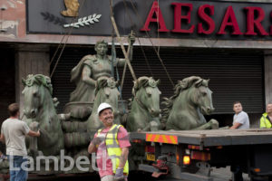 STATUE REMOVAL, CAESARS, STREATHAM HIGH ROAD