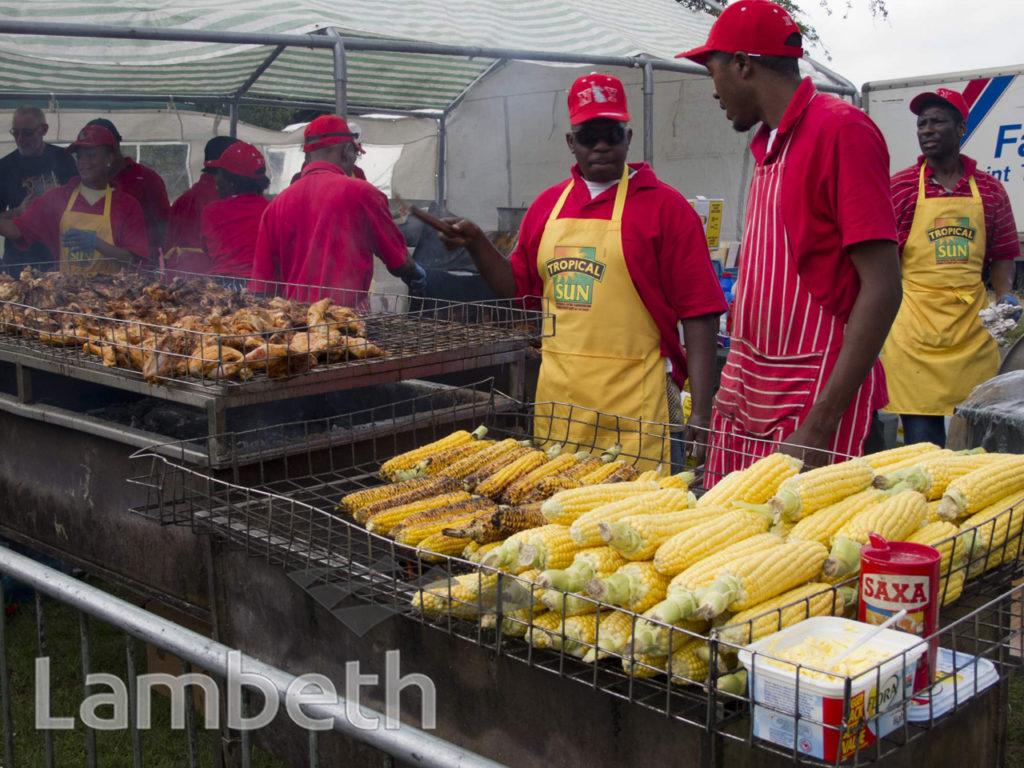 JERK COOKOUT, JAMAICAN FOOD FESTIVAL, BROCKWELL PARK