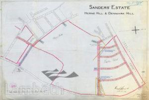 SANDERS ESTATE MAP, DENMARK HILL, HERNE HILL