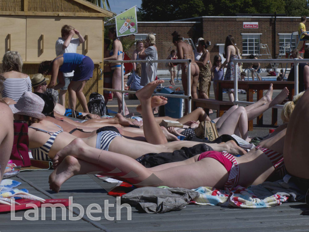 SWIMMERS, LIDO, BROCKWELL PARK, HERNE HILL