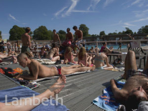 SUNBATHERS, LIDO, BROCKWELL PARK, HERNE HILL