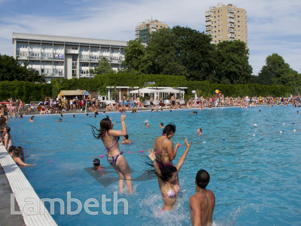 SWIMMERS, BROCKWELL LIDO, BROCKWELL PARK, HERNE HILL