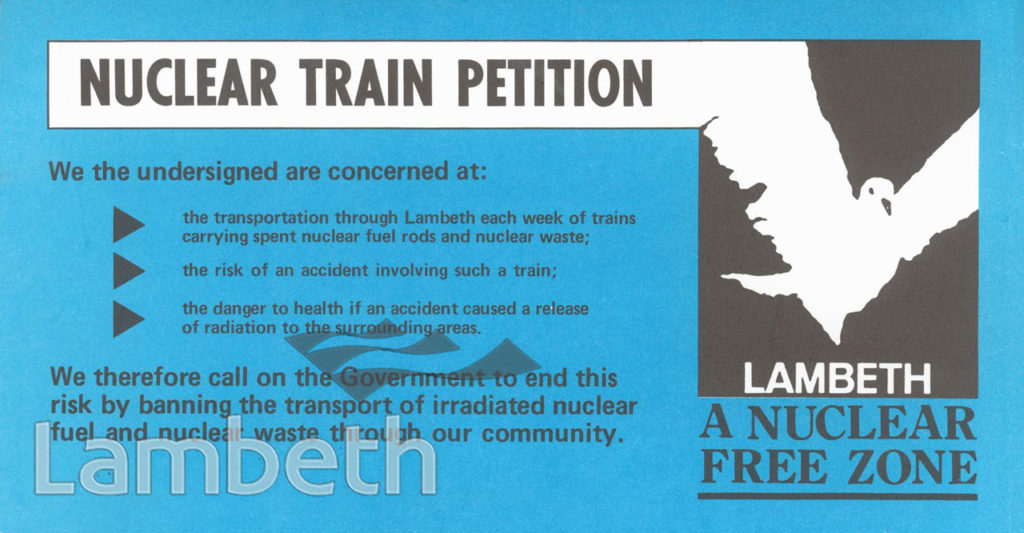 LAMBETH, NUCLEAR TRAIN PETITION