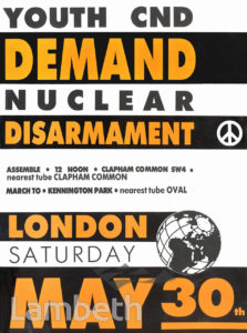 CND PROTEST RALLY, CLAPHAM COMMON, CLAPHAM