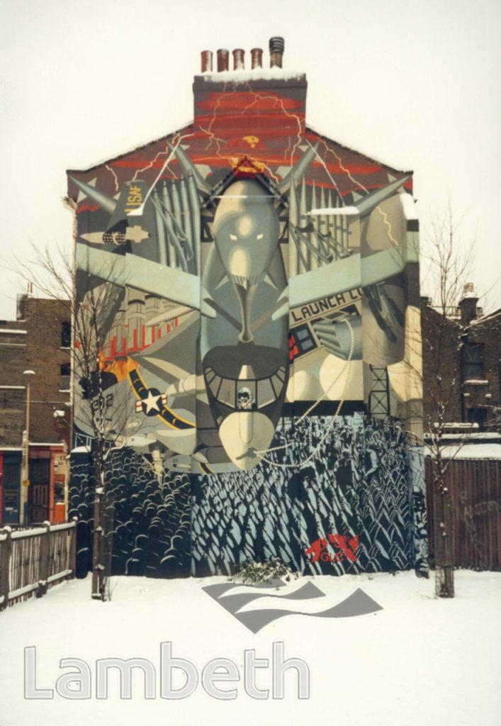 'WAR' MURAL, VINING STREET, BRIXTON