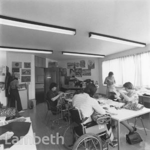 DAY CENTRE TEXTILES CLASS, CLAPHAM ROAD, KENNINGTON