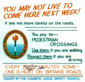 PEDESTRIAN CROSSINGS: LAMBETH LOCAL SAFETY COUNCIL