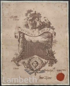 JUBILEE ADMISSION TICKET, VAUXHALL GARDENS