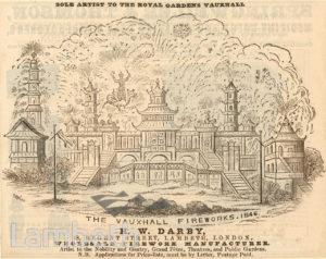 H.W.DARBY, FIREWORK MANUFACTURER, REGENT STREET, LAMBETH