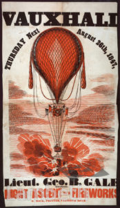 GEORGE BALE'S BALLOON ASCENT, VAUXHALL GARDENS