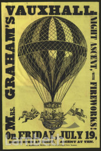 MRS GRAHAM'S BALLOON ASCENT, VAUXHALL GARDENS