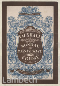 POSTER, VAUXHALL GARDENS