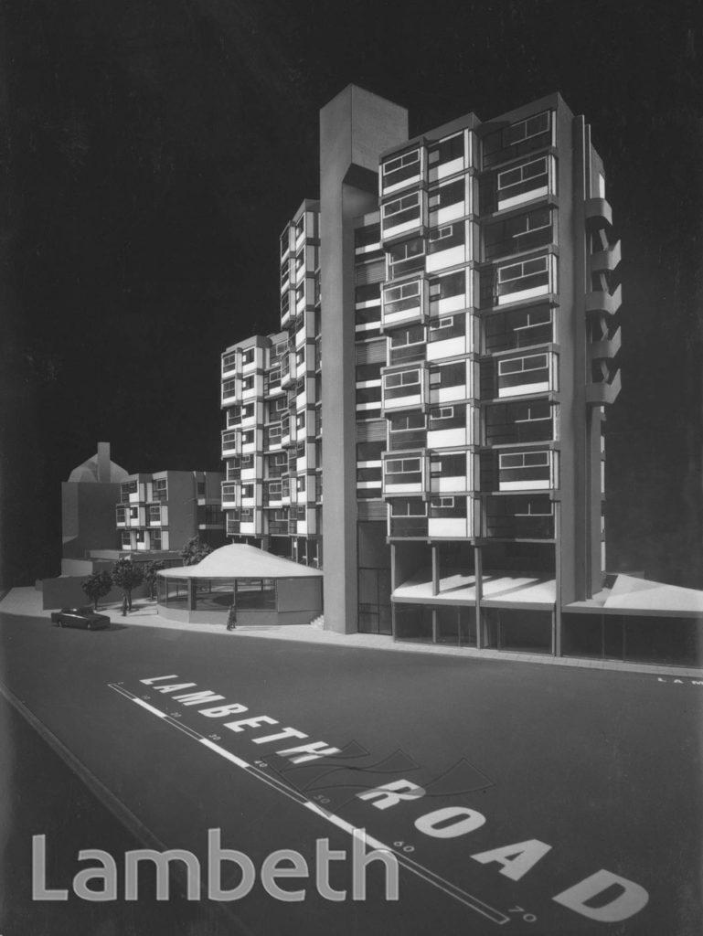 LAMBETH TOWERS MODEL, LAMBETH ROAD, LAMBETH