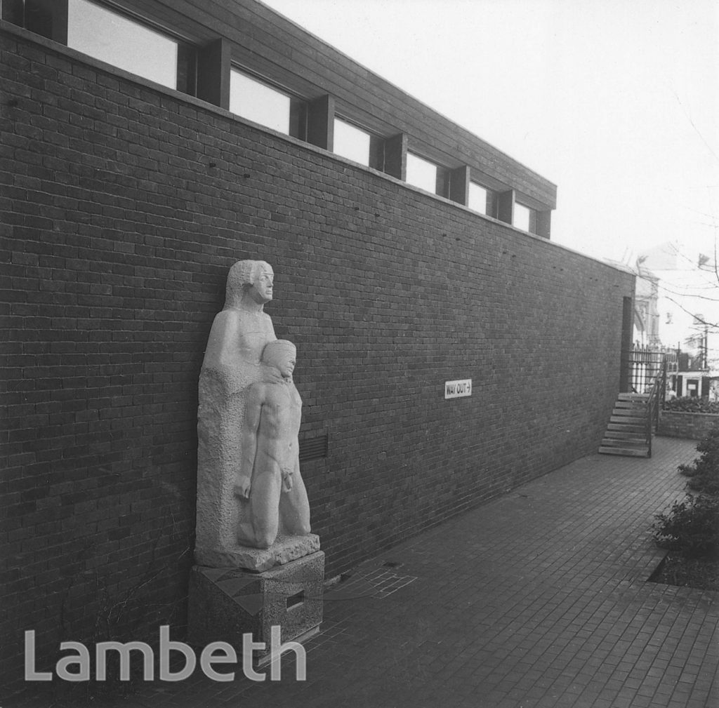 SCULPTURE, WEST NORWOOD LIBRARY, WEST NORWOOD