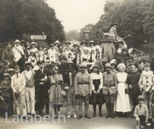 CLAPHAM PAGEANT, ATKINS ROAD, CLAPHAM PARK