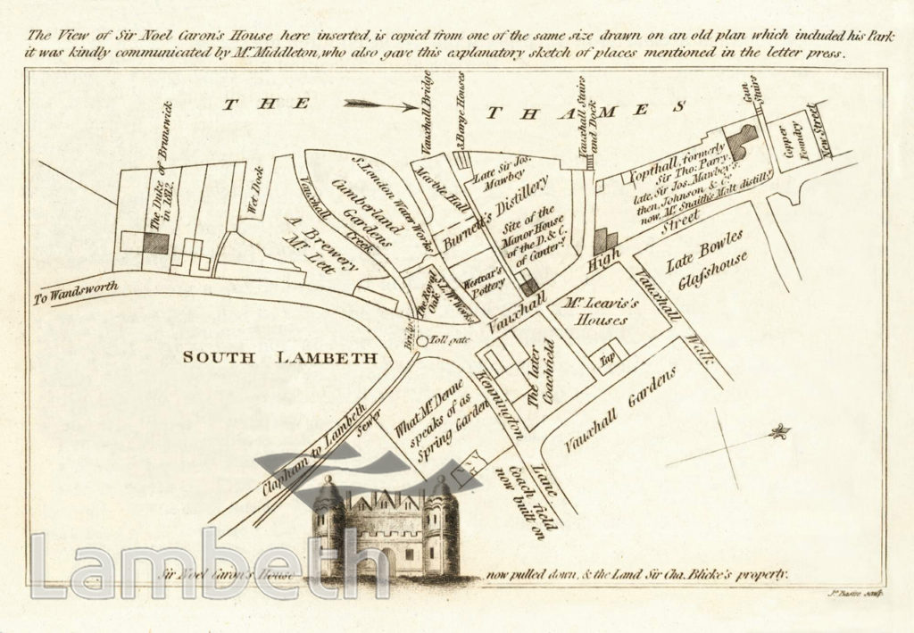 SIR NOEL CARON'S HOUSE, SOUTH LAMBETH ROAD, VAUXHALL