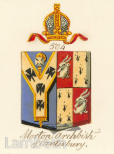 ARCHBISHOP MORTON, COAT OF ARMS
