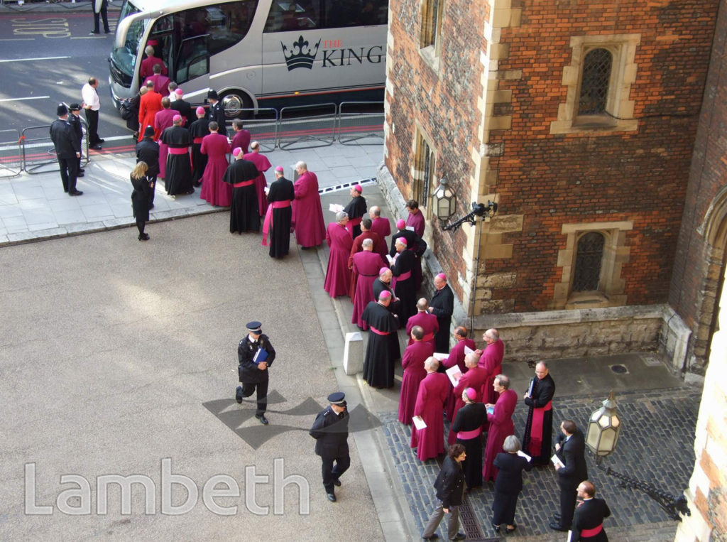 PAPAL VISIT, LAMBETH PALACE, LAMBETH