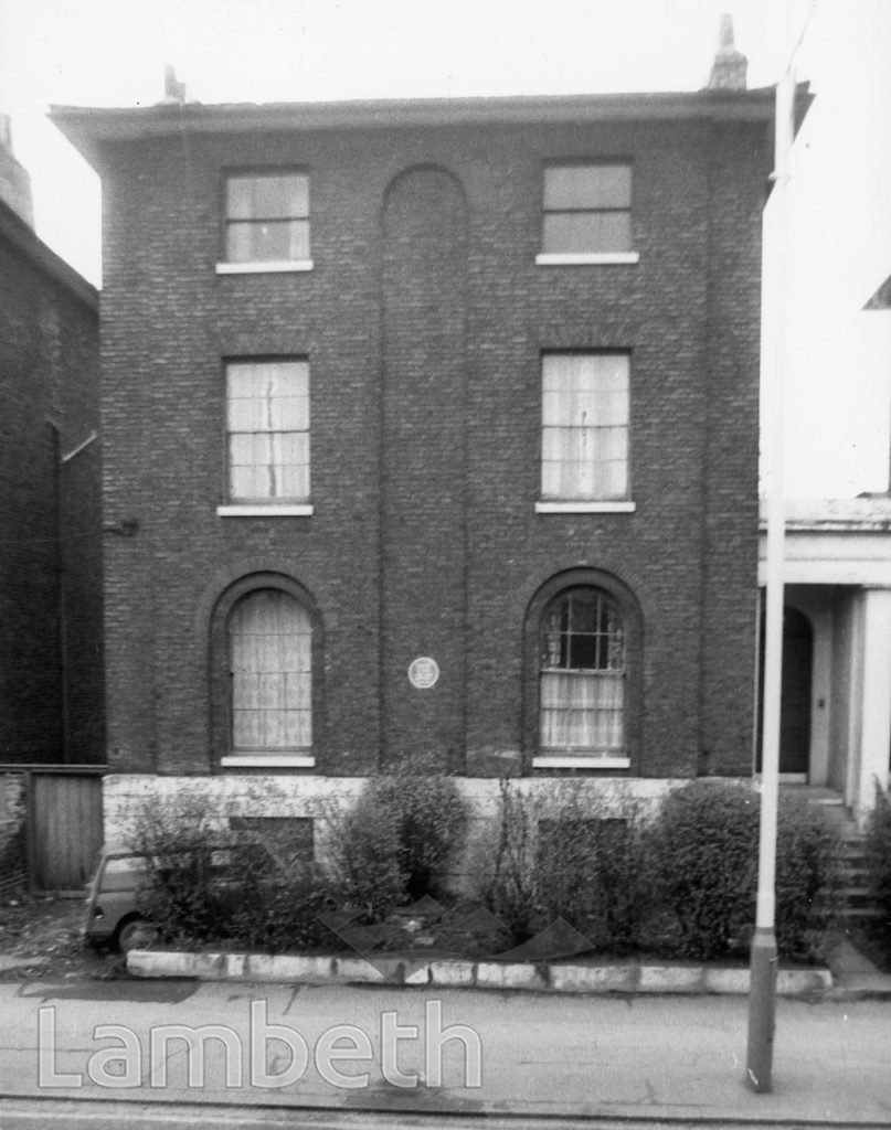 HOME OF DAVID COX, 34 FOXLEY STREET, BRIXTON NORTH