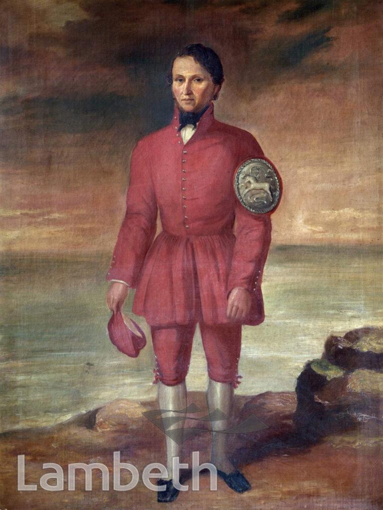 GEORGE MAYNARD, DOGGETTS' COAT & BADGE RACE WINNER, 1833