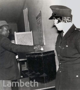 VOTER, PARLIAMENTARY ELECTION, LAMBETH