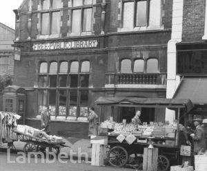NORTH LAMBETH LIBRARY, LOWER MARSH, WATERLOO