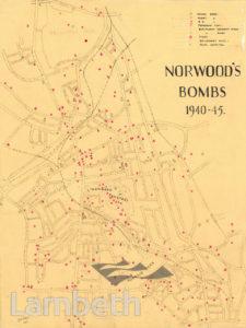 NORWOOD BOMB MAP, WORLD WAR II