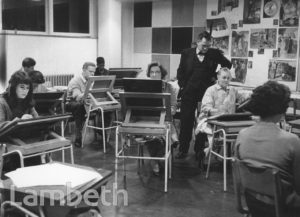 EVENING ART CLASS, STOCKWELL MANOR SCHOOL, STOCKWELL