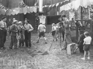 'LAMBETH REJOICES' FILMING, AULTON PLACE, KENNINGTON
