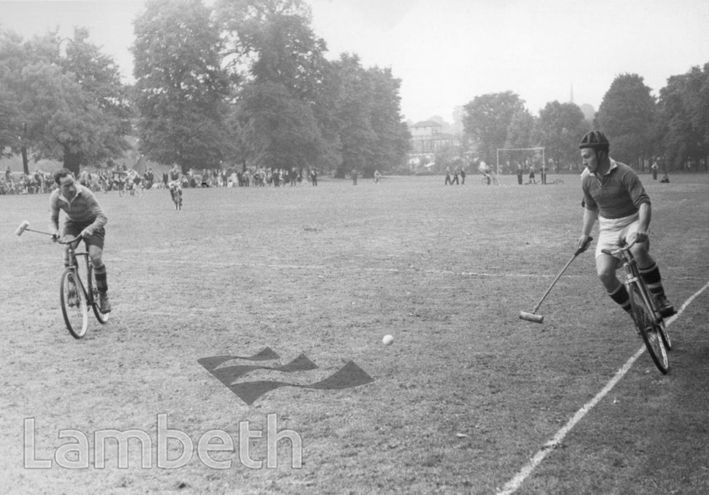 CYCLE POLO, BROCKWELL PARK, HERNE HILL