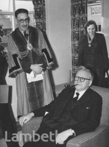 HERBERT MORRISON VISITING SHOW FLAT, LAMBETH ESTATE