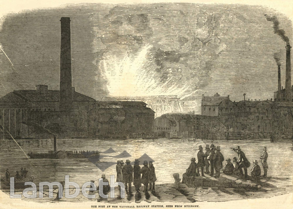 VAUXHALL RAILWAY STATION FIRE, VAUXHALL