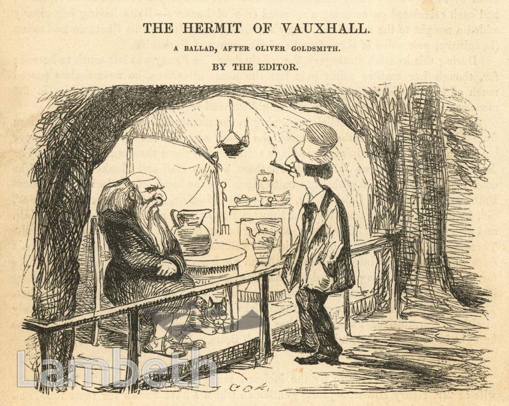 THE HERMIT OF VAUXHALL, VAUXHALL GARDENS