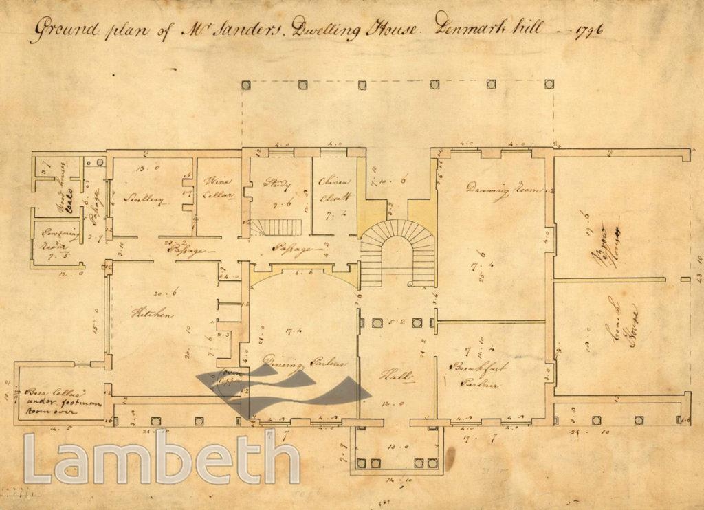 SAMUEL SANDERS' HOUSE, DENMARK HILL