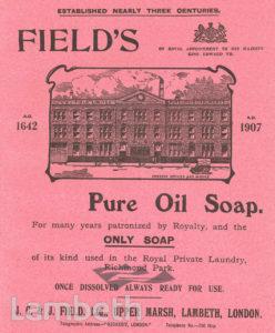 FIELD'S SOAP ADVERT, UPPER MARSH, LAMBETH